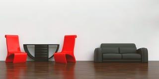 Configuración simple de la sala de estar Stock de ilustración