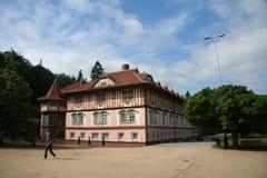 Configuración tradicional del balneario de Luhacovice Imágenes de archivo libres de regalías