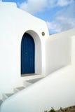 Configuración tradicional del pueblo de Oia en la isla de Santorini Fotografía de archivo libre de regalías