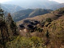 Configuración Tulou-especial de Fujian de China Foto de archivo