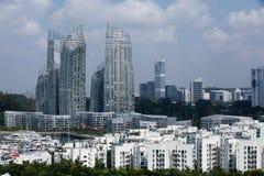 Configuración de la bahía de Keppel, Singapur Foto de archivo