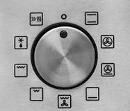 Configuraciones del horno Imagen de archivo