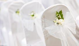 Configuraciones tropicales para una boda Imagen de archivo libre de regalías