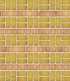 Configuration âgée de brique et de tuile Photographie stock