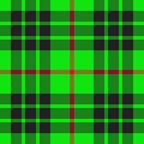 Configuration écossaise verte Photo stock