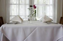 Configuration élégante de table Photos stock