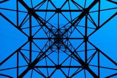 Configuration élevée de ligne électrique Image libre de droits