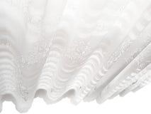 Configuration abstraite blanche d'abat-jour d'hublot de lacet Photographie stock