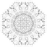 Configuration abstraite de cercle Image stock