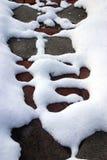 Configuration abstraite de neige image libre de droits
