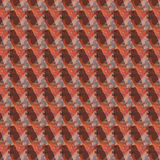 Configuration abstraite orange et brune Photo stock