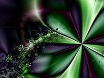 Configuration abstraite verte et pourprée illustration de vecteur