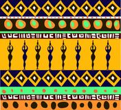 Configuration africaine Photo stock