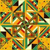 Configuration africaine sans joint Ornement ethnique sur le tapis Style aztèque Figure broderie de tribal Modèle indien, mexicain illustration libre de droits