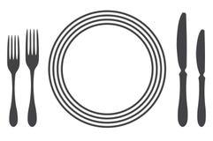 tiquette et couvert de tableau l 39 ensemble de diff rentes options illustration de vecteur. Black Bedroom Furniture Sets. Home Design Ideas
