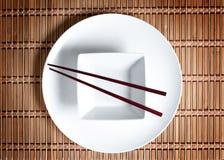 Configuration asiatique de table Images libres de droits