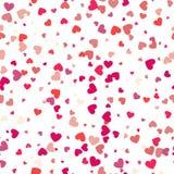 Configuration avec des coeurs Fond de jour de valentines Concept moderne illustration libre de droits