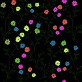 Configuration avec des fleurs Photo libre de droits