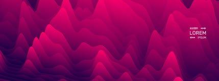 Configuration avec l'illusion optique Fond ondulé abstrait Illustration de vecteur illustration de vecteur