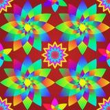 Configuration bariolée décorative avec les fleurs géométriques. Photo libre de droits