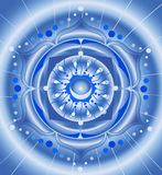 Configuration bleue abstraite, mandala Photos libres de droits