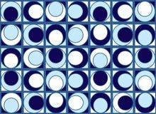 Configuration bleue de cercles Photos libres de droits