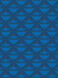 Configuration bleue de damassé Images libres de droits