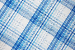 Configuration bleue de plaid Images stock