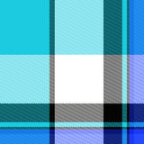 Configuration bleue de plaid Photos stock