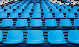 Configuration bleue de sièges vides Photographie stock libre de droits