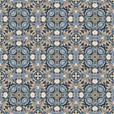 Configuration bleue et brune illustration de vecteur