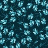 Configuration bleue florale Image libre de droits
