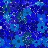 Configuration bleue florale sans joint illustration libre de droits