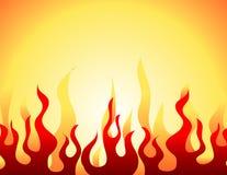 Configuration brûlante rouge de flamme Photo stock