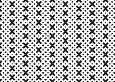 Configuration carrée noire et blanche Configuration en travers Images stock
