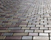 Configuration carrelée de trottoir Image libre de droits