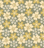Configuration carrelée sans joint florale Photographie stock libre de droits