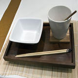 Configuration chinoise de table de nourriture Photo stock