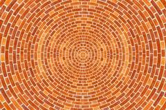 Configuration circulaire de brique photo stock