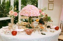 Configuration classique de table Photographie stock