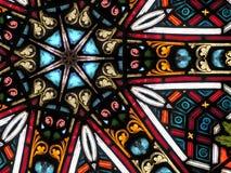 Configuration colorée 7 en verre souillé Photo libre de droits