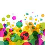 Configuration colorée abstraite de cercles Fond sans joint de vecteur illustration stock