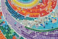Configuration colorée d'en céramique sur l'étage à t thaï Images libres de droits