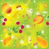 Configuration colorée sans joint avec des fruits Photos stock