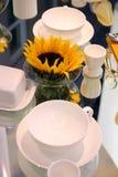 Configuration confortable de table Photographie stock libre de droits