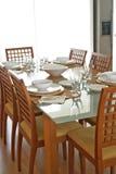 Configuration contemporaine de table Photographie stock