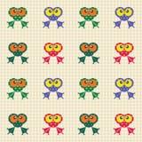 Configuration contrôlée avec les grenouilles drôles illustration libre de droits