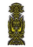 Configuration décorative verticale avec des oiseaux et des fleurs Image libre de droits