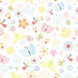 Configuration d'été des fleurs et des guindineaux Images libres de droits