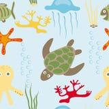 Configuration d'animaux de mer Images libres de droits